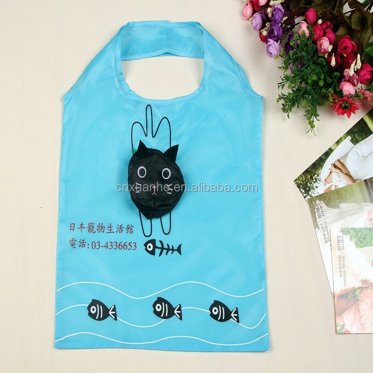 Competitive price animal shaped nylon foldable shopping bag for ladys gift