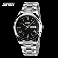 charming mens Stainless steel new trendy watches sport leisure luxury black dial