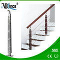 modern design interior/exterior wood stainless steel pipe railing system