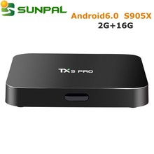 sunpal download hd 1080p video android 6.0 maeshmallow tv box tx5 pro 2gb 16gb amlogic s905x set top box 2gb 8gb 4k stb