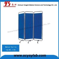 Hospital Furniture Medical ward Folding Bedside Screen hospital room divider