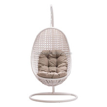 2016 latest rattan egg chair with round base outdoor hanging lounge chair ORW-1011C