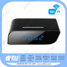 Best Hidden Style mni rechargeable Clock wifi clock radio camera with long time recording
