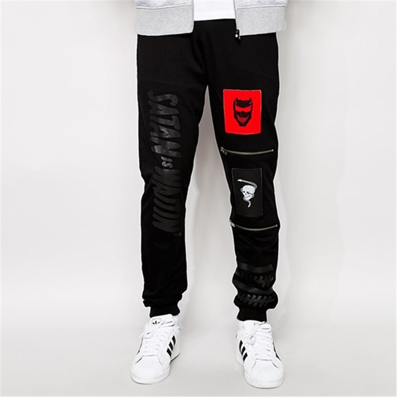 2017 fashional printed custom mens jogger pants