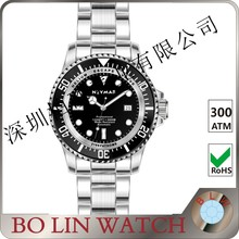 wholesale custom watch dive sapphire watch 100atm with rubber strap factory price