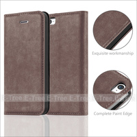 Strong Magnetic Wallet PU Flip Leather Case Cover For iPhone 5 5S