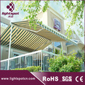 Swimming pool double sided gazebo retractable awning