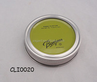 Light green 2 parts colorful glass jar metal cap and lids