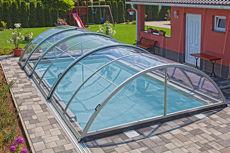 Rigid aluminum frame swimming pool safety cover custom made cover for inground winter pool