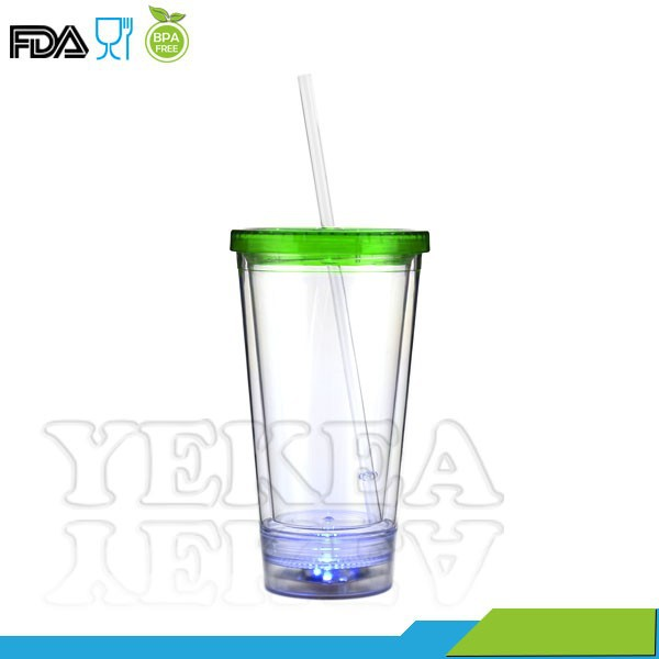 Light-Up LED Flashing 16oz insulated wholesale starbucks tumbler
