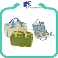 Fashion wholesale large cosmetic bag with compartments