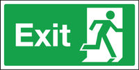 300 mm x 150 mm Exit --right sign
