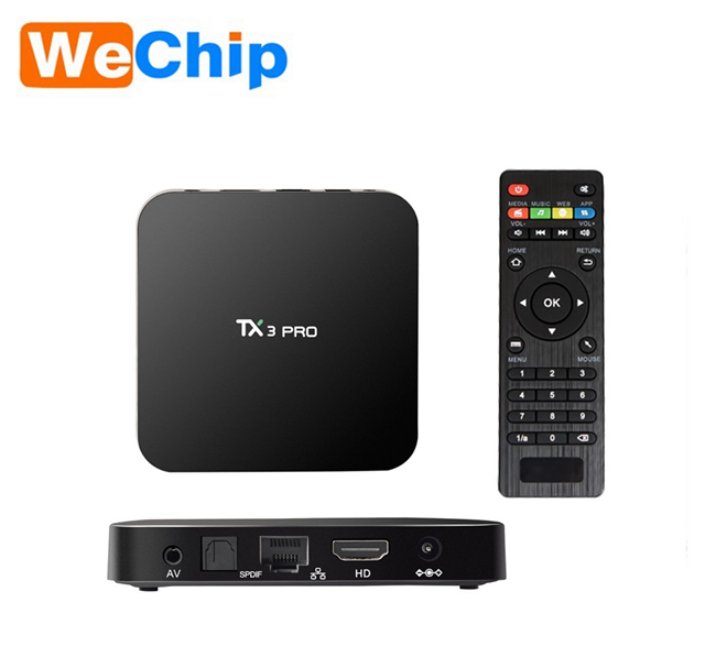 OTT TV Box android 6.0 Amlogic s905X 1GB 8GB Stream Set top box TX3 PRO TX5