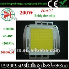 high lumen cree/bridgelux/epistar cob 10-200w led chips moudel with heatsink