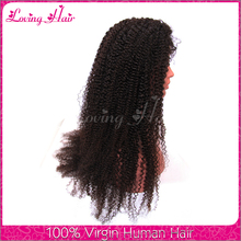 High quality mongolian kinky curly hair wig mongolian human hair lace wig full lace wig with baby hair