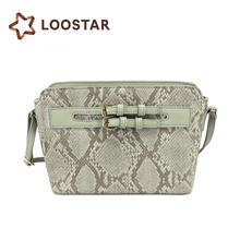 Hot Fashion PU Shoulder Snake Skin Bag Lady Snakeskin Bag