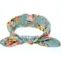 New Baby Floral Printed Top Knot Headband for Girl Hair Fashion Flower Baby Cotton Headband Girl Cotton Head A760