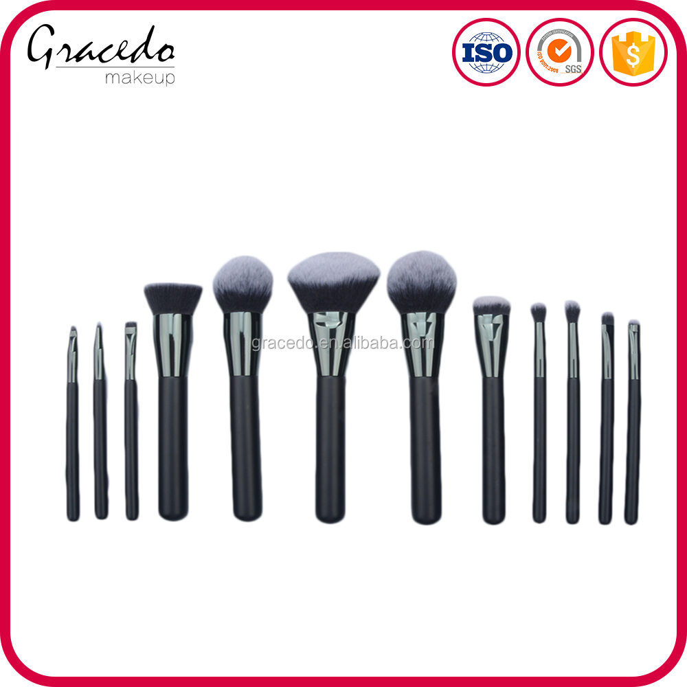 2018 New Famous Soft Black Cosmoprof Makeup Make up Brushes Set