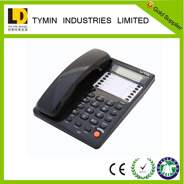 Caller ID phone for telephone 2 line telephone wall mounted office phone for sale