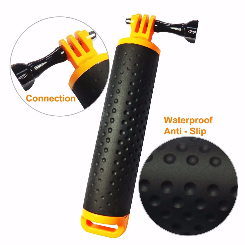 Xiaoyi GoPro Hand Grip Handle Mount Accessory Floaty Bobber Waterproof Rubber