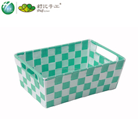 Nylon woven colorful Storage basket made in china