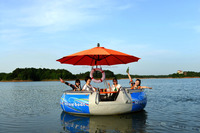 BBQ Donut Boat for Entertainment, BBQ Leisure Boat, BBQ Donut Fishing Boat
