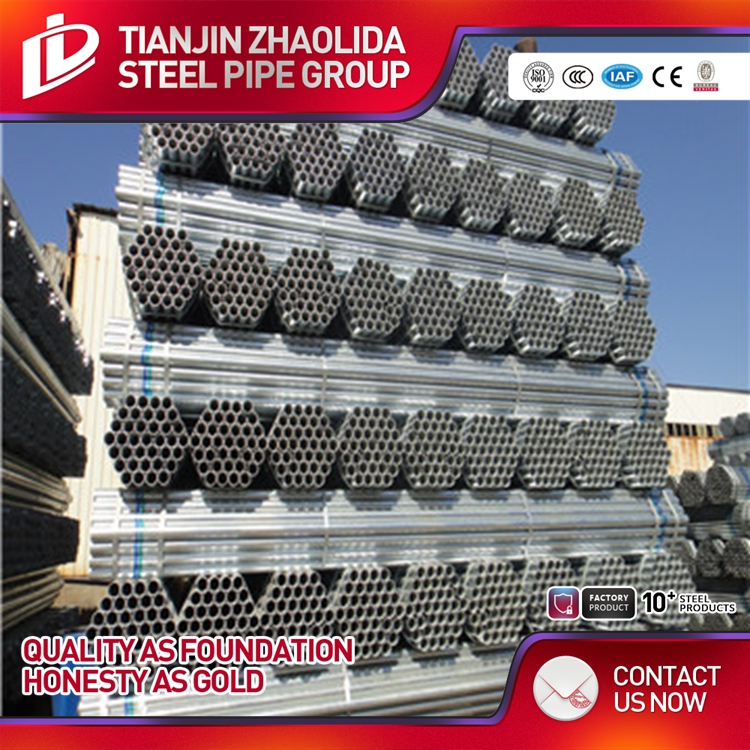 Q195 1.5 inch fencing Mild Carbon Welded Galvanized Steel Pipe / Tube Manufacturer for greenhouse