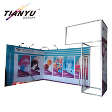 Customized acrylic shelves aluminum display stand.