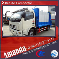 Dongfeng 6m3 1.2 Tons rear loader small garbage truck, rear load garbage truck