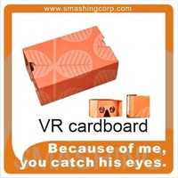corporate merchandise gifts google cardboard 3d glasses/virtual video glasses