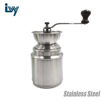 Manual Stainless Steel Coffee Bean Grinder Ceramic Burr