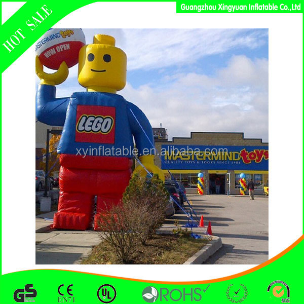 Giant lego man inflatable for advertisement decoration