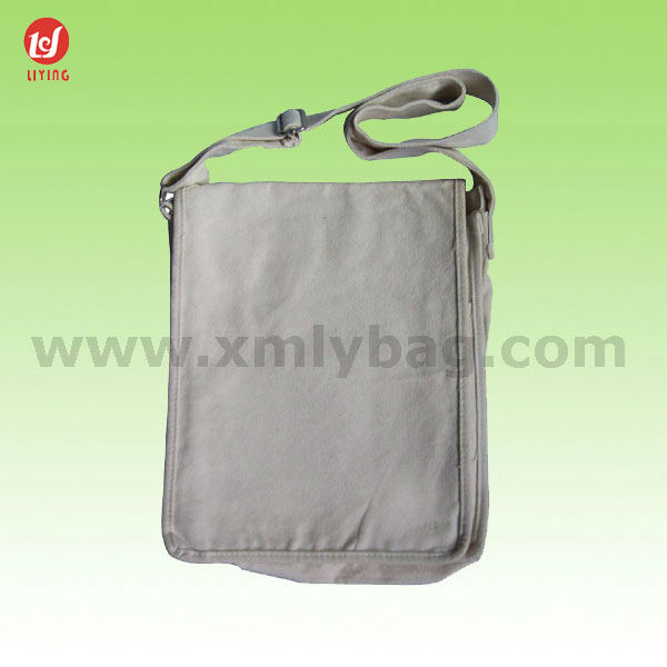 Promotional Nature White Canvas Sling Shoulder Messenger Pouch Bag