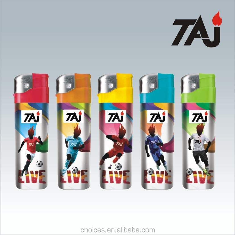 TAJ Brand buy bic lighters wholesale refillable electronic tesla lighter with PVC