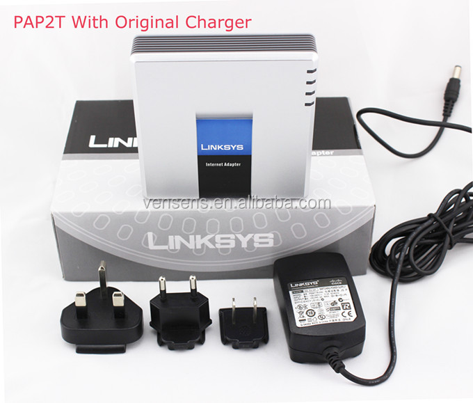 Reliable Supplier Voip Phone Adapter PAP2T Linksys Gateway Internet Phone Adapter PAP2