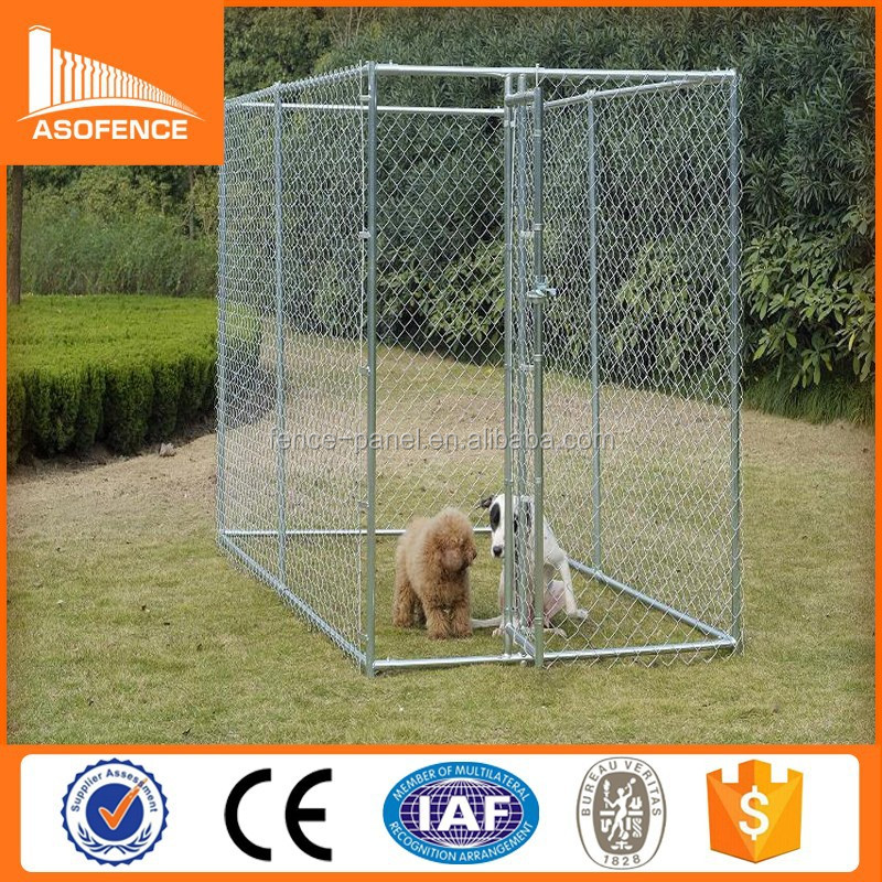 Heavy duty galvanized chain link type the dog kennel for sale