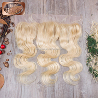 virgin russian hair 13x4 body wave blonde full lace frontal pieces
