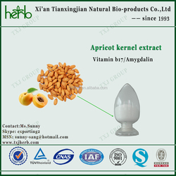 pharmacuetical&injection grade apricot extract powder amygdalin laetrile vitamin b17
