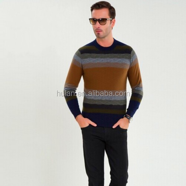 2015 latest winter cashmere pullover sweater design for men