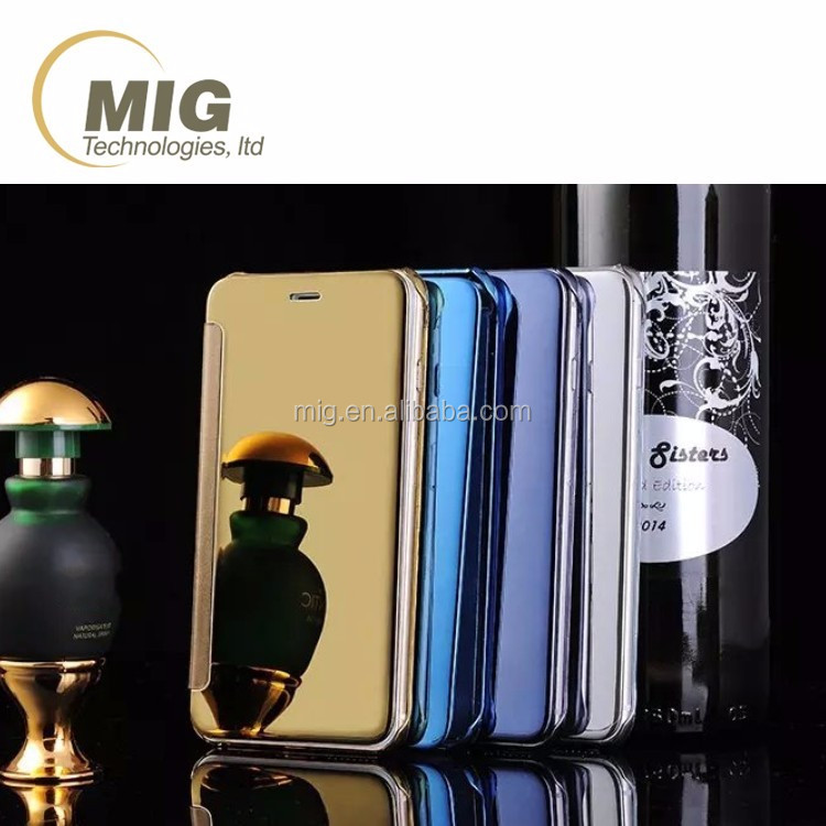 3D Mirror Smart View Clear Flip Phone Case Cover For LG G4 and for samsung galaxy s6 s6 edge