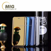 3D Mirror Smart View Clear Flip Phone Case Cover For LG G4 and for huawei mate 7 / head 4 / G7 G8 D199