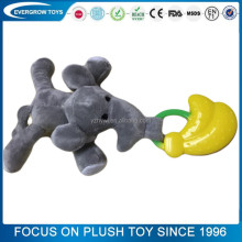 2017 plush elephant with banana silicone baby toy