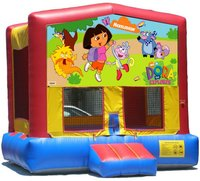 Dora Bounce House Inflatable Jumper Art Panel Theme Banner 13' x 13' (No Bounce House)