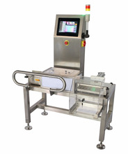 Automatic check weight machine with ejector system