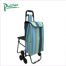 The Fine Quality Folding Trolley Shopping Bags With Chair