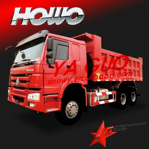 sinotruck 25-30 ton 336hp tipper truck are cheaper than hino truck