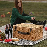 wholesale willow/wicker picnic basket set for sale picnic wicker basket