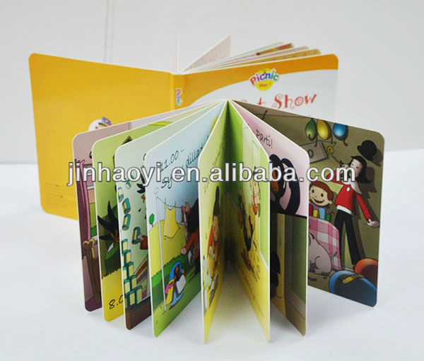 Hardcover  Cardboard Color Printing Children Books,professional color printing in China,glossy lamination colour printing card books for kids