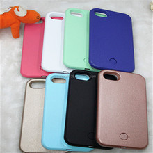 Fill light two-sided on selfies TPU & PC cell phone case for iphone 5,6,6plus,7,7plus