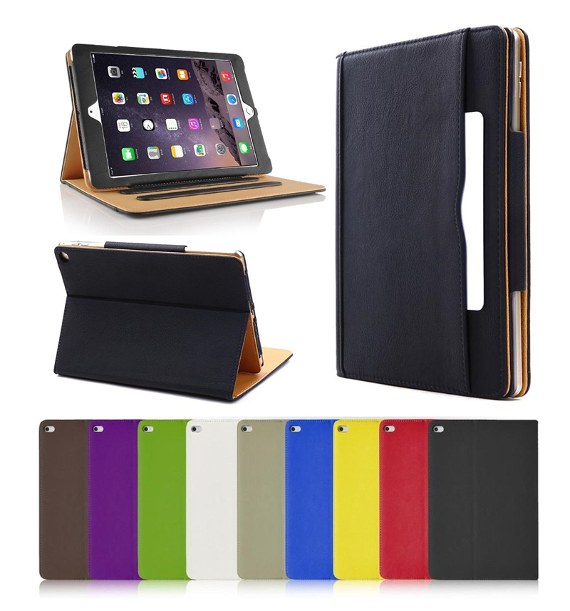 Retro Tan Magnetic Stand Wallet Leather Smart Flip Case Cover for iPad Air